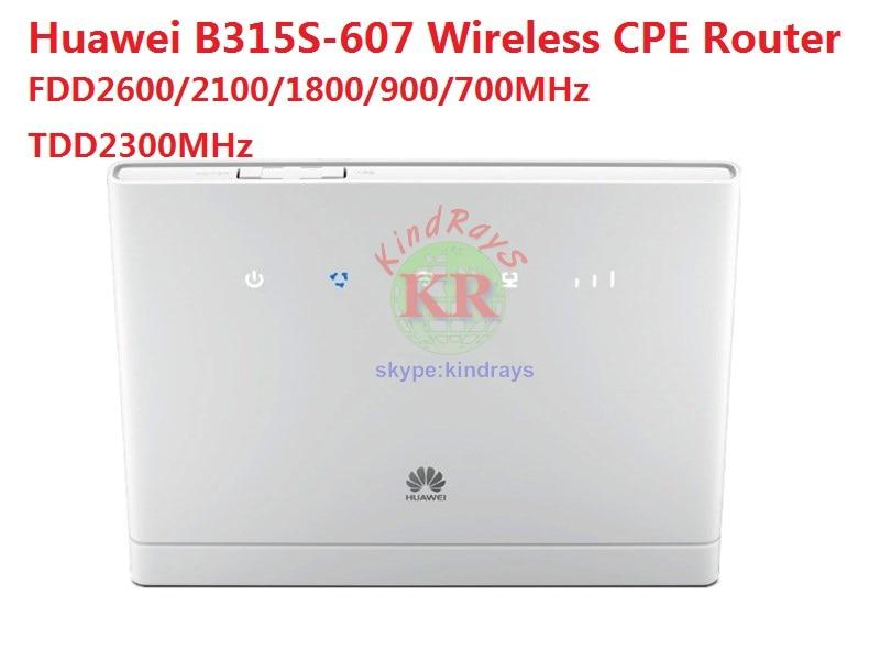 Sbloccato Huawei B315 B315s-607 LTE FDD700/900/1800/2100/2600 mhz TDD2300Mhz Mobile Wireless CPE Router PK E5172 E5771 b970
