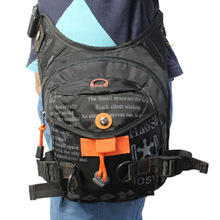 Men's Waterproof Nylon Outdoor Ride Leg Bag Drop Fanny Waist Belt Hip Bum Motorcycle Riding Waist Leg Bag Messenger Shoulder bag