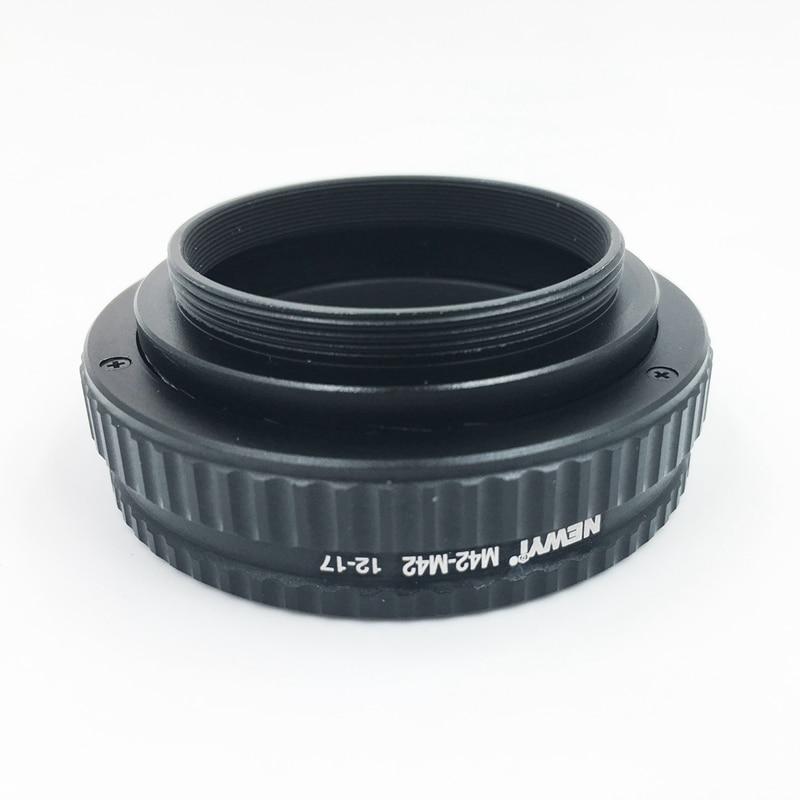 Image 2 - NEWYI M42 к M42 фокусировочное винтообразное кольцо адаптер 12 17 мм Макро Удлинитель камера объектив преобразователь переходное кольцо-in Адаптер объектива from Бытовая электроника