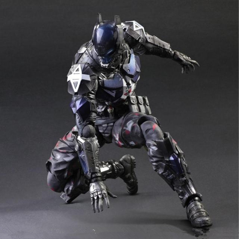 27 CM Batman: Arkham Knight Play Arts KAI Arkham Knight Justice League PVC Action Figue Toy Collectible Model L1077 playarts kai batman arkham knight batman blue limited ver brinquedos pvc action figure collectible model doll kids toys 28cm