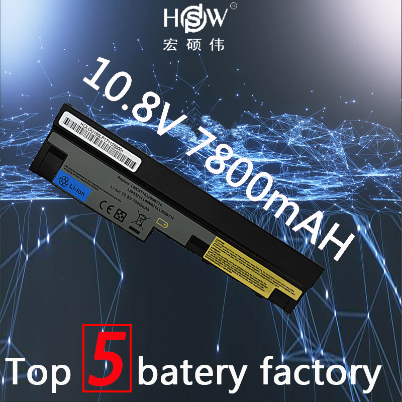 HSW 7800mAh laptop battery for Lenovo IdeaPad S100 S10 3 S205 S110 U160 S100c S205s U165 L09S6Y14 L09M6Y14 9cells batteria akku in Laptop Batteries from Computer Office