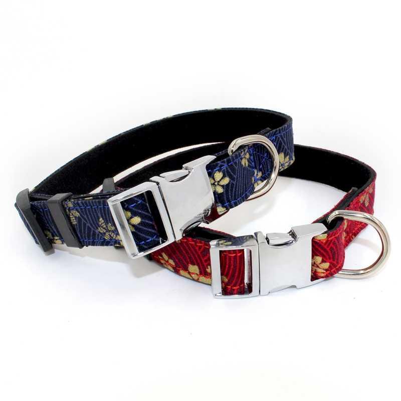 Популярный собачий ошейник с рисунком пиццы и поводок с галстуком-бабочкой для больших и маленьких собак, хлопковый тканевый ошейник с металлической пряжкой розового золота