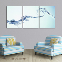 Realistic Water Spray Art Modern Canvas Prints Artwork Pictures Photo Printings for Home Dining Room Wall Hanging Decorations