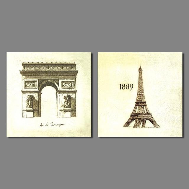 Eiffel Tower Wall Art aliexpress : buy 2pcs modern city decoration paris eiffel