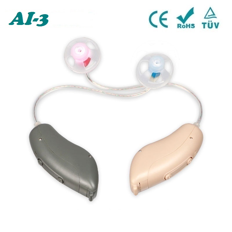 Acosound AI-3 Digital Hearing Aid Aids 12Channels Programmable Best Mini RIC Hearing Aids Small Hearing Amplifier Ear Aid programmable digital 6 channels ric reaceiver in the ear canal hearing aids with battery 312 my 19