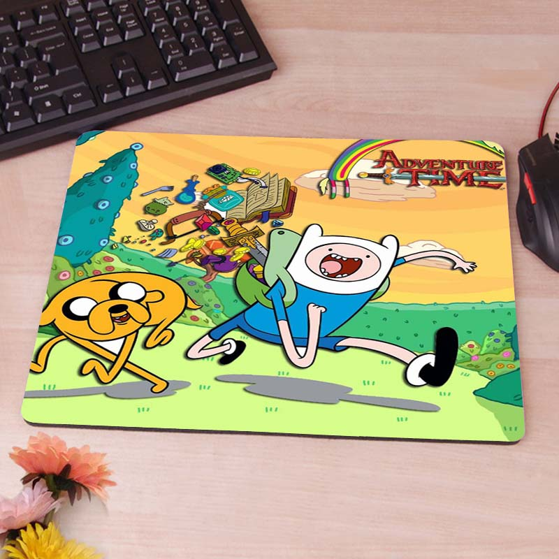 MaiYaCa Adventure Time Animated Wallpaper Custom Diy Design Gaming Mousepad Rubber Mats ...