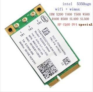 Intel  5350AGN  FRU 43Y6533  SPS 466238-001  For T400 X200 R400 HP CQ40