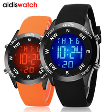 2019 addies fashion korea style waterproof sport watch jelly-like quartz luminous casual wristwatch men's watch все цены
