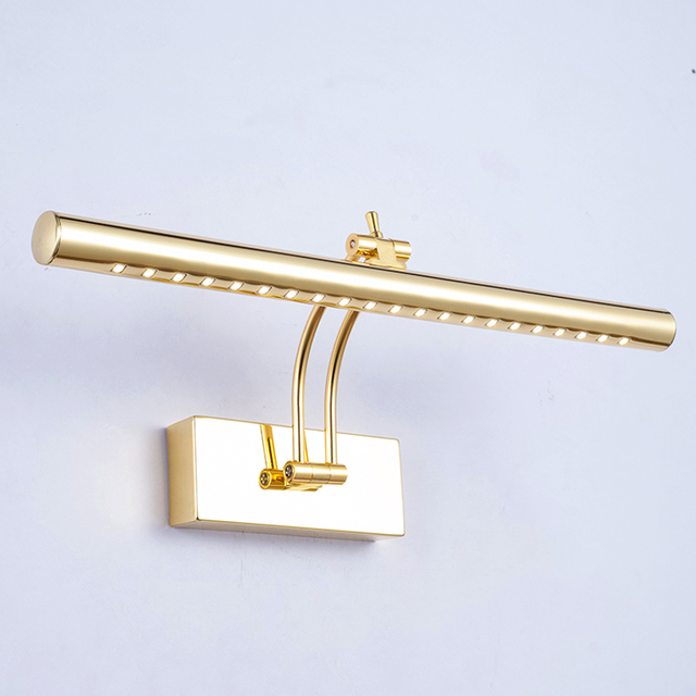 Quality Gold Mirror Light Led Bathroom Cabinet Lamp Glass Cosmetic Waterproof