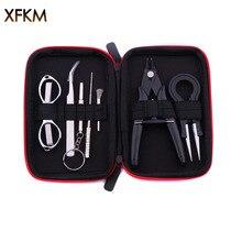 XFKM Mini Vape Tool Kit Bag Tweezers Pliers Wire Vape Band Coil Jig Cotton For X9 Electronic Cigarette Accessories