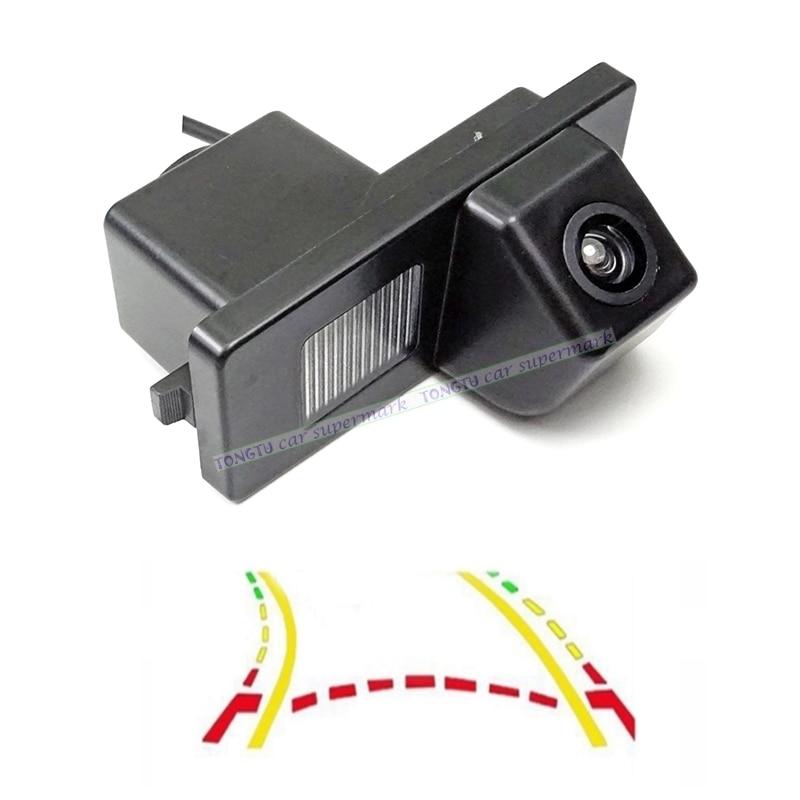 CCD 600 Linie Intelligente Dynamische Flugbahn Tracks Auto Rückansicht Kamera Wasserdicht Für SsangYong Kyron Rexton Korando Actyon