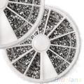 Nail Art 2000PCS 1.5mm Rhinestones Glitter Diamond Gems 3D Tips Decoration Wheel  1PWO 1U7D 4BA7