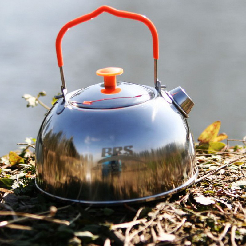 Bouilloire extérieure de Pique-nique vaisselle Pot Portable Vaisselle En Acier Inoxydable Thé Pot Camping Randonnée Cuisson Outil P15
