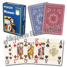 XF Modiano Italian Poker Game Playing Cards - Red Poker Jumbo Index - Single Card Deck - 100% Plastic Made in Italy