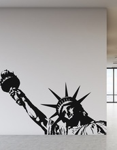 New York Landmark Statue of Liberty Vinyl Wall Decal Office University Dormitory Living Room Home Decor CS03