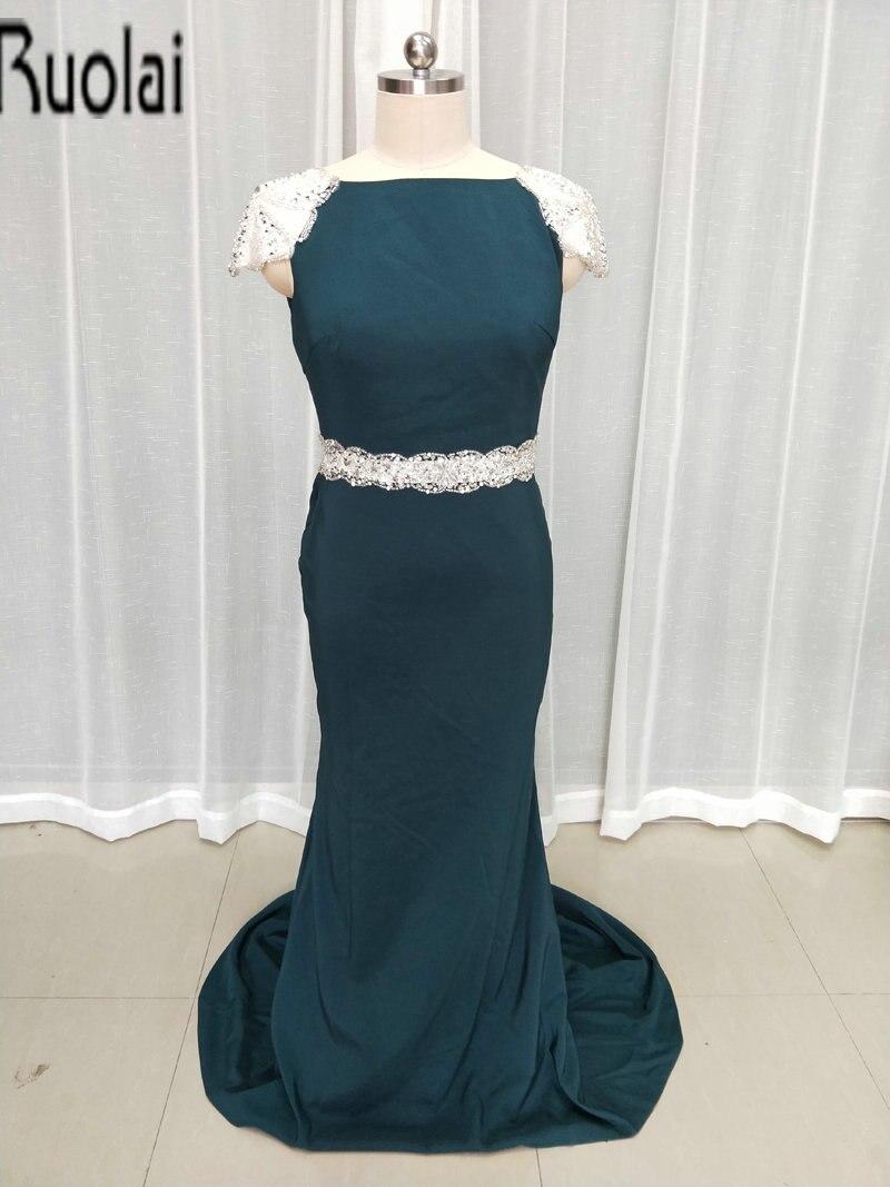 3c8ea99ce9 2016 nueva llegada elegante sirena piso-longitud Madre de la novia Vestidos  moldeado pesado espalda abierta de dama de honor vestido por encargo