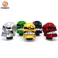 POSSBAY Skull Head Car Gear Shift Knob Shifter Lever Manual Transmissi