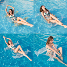 Summer new swimming pool float ball water hammock recliner inflatable floating bed mattress ring