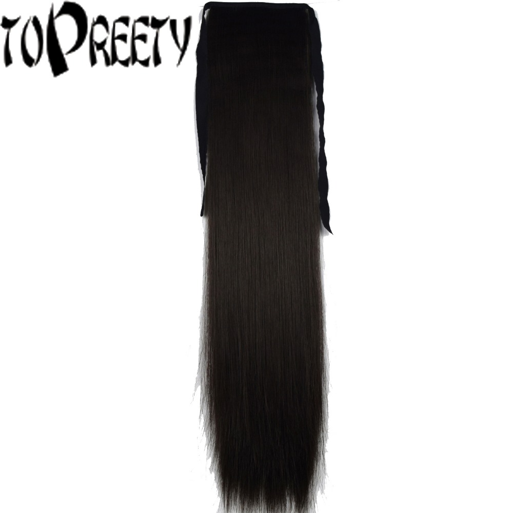 TOPREETY Heat Resistant B5 Synthetic Hair Fiber Silky Straight Ribbon Ponytail Hair Extension 1006