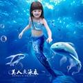Nueva natación Cola de Sirena Ariel Princesa Vestido Cosplay Del Traje de Halloween Para Los Niños de La Sirena Colas Para la Natación Chica Del Vestido de Lujo