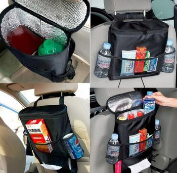 AUTO Accessories New Car Seat Back Multi-Pocket Insulation Storage Bag Organizer Fit For BMW Ford Passat Honda Peugeot Audi Toyo image