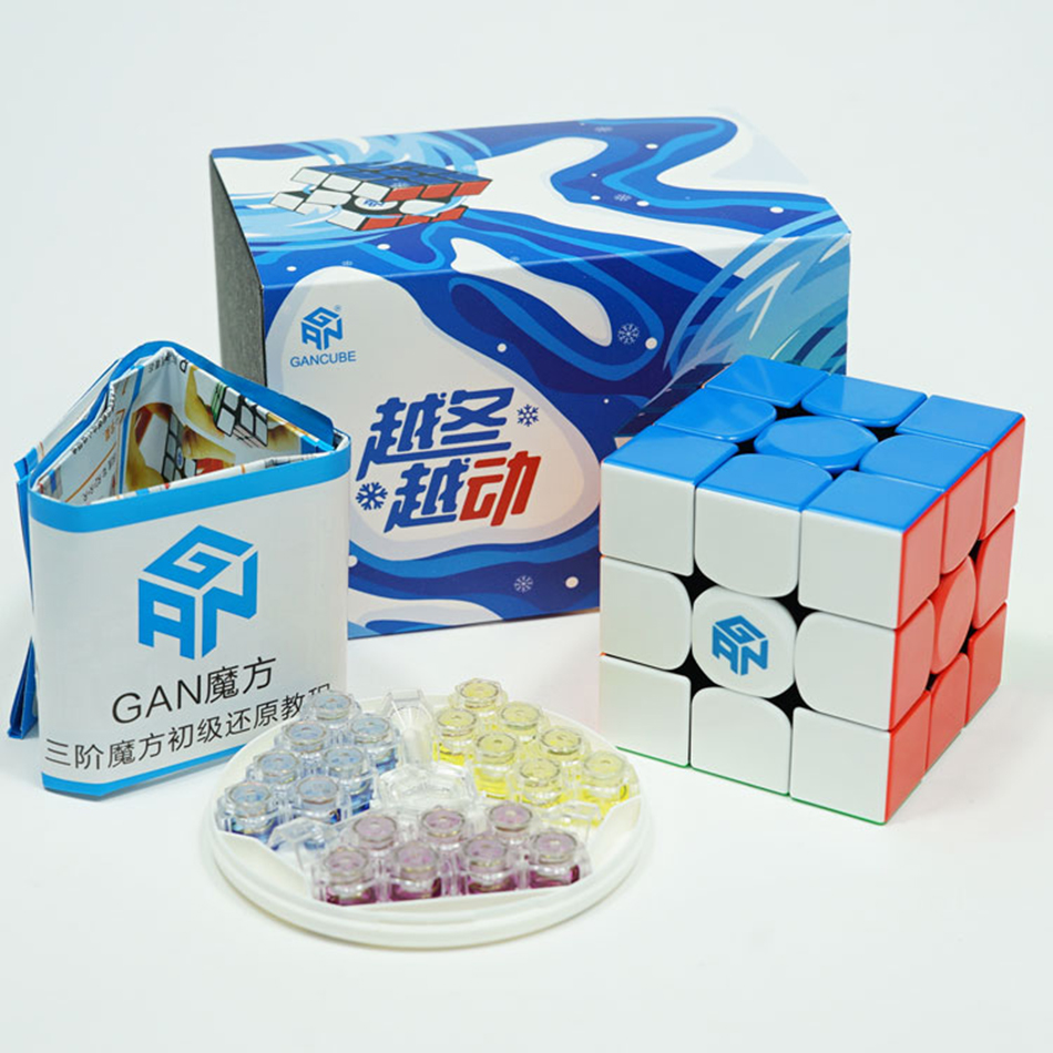 Gan 354 M Magnetic Puzzle Magic 3x3 Speed Cube Stickerless Professional Gan354 Magnets Speed Cubo Magico 354M Toys For Children