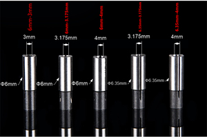 Image 3 - 12.7mm 3.175 4 6 6.35 8 10mm 1PCS,Free post CNC Collet conversion sleeve High precision adapter,engraving machine accessories