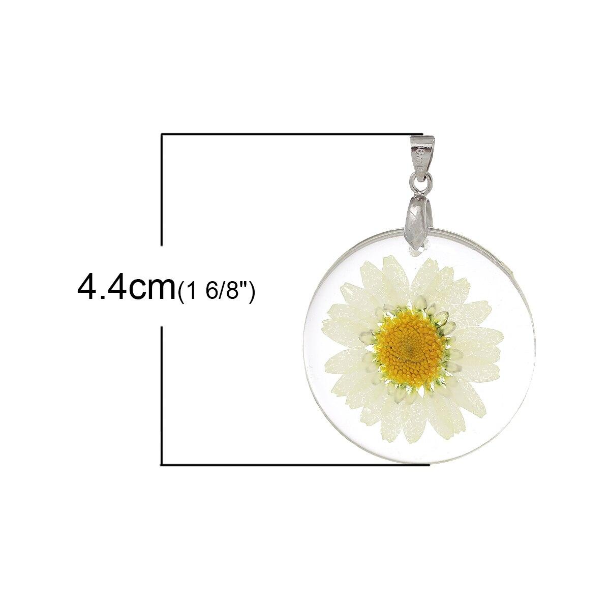 DoreenBeads Resin Charm Pendants Putaran Transparan Kuning Nyata - Perhiasan fashion - Foto 2