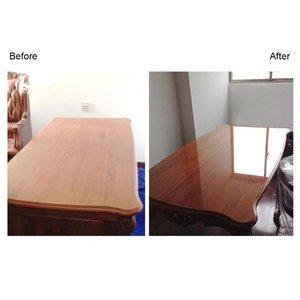 Image 2 - Глянцевая прозрачная стеклянная Защитная пленка для мебельного стола, 50 см x 200 см, 2Mil, наклейка на рабочий стол, защитная пленка с клеем