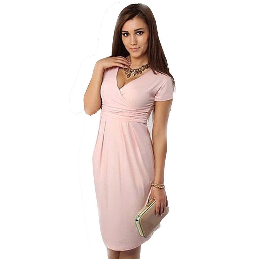 94c026c38e7ab AAMIKAST New Fashion Summer 2019 Elegant Celebrity Pregnant Women Plus Size  Short Sleeve Cotton Casual Bodycon Women Dresses