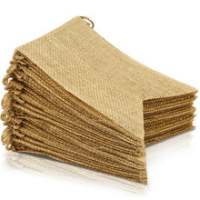38 Pcs Burlap Banner, 30 Ft Swallowtail Flag, DIY Decoration for Holidays, Wedding, Camping, Party and Any Occasion