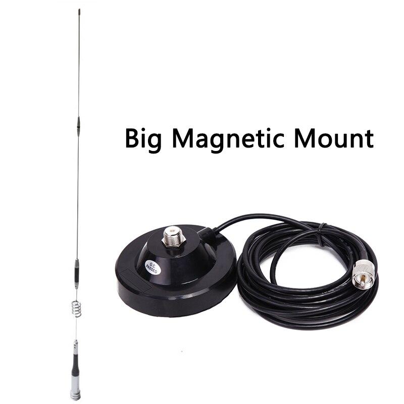 Antena Pacote: Mobile Antena SG7200 UHF/VHF de Banda Dupla Diamante SG-7200 + Grande Magnetic Mount + 5 M cabo Para O Rádio Do Carro Móvel