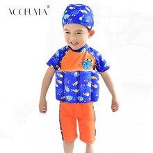 4c018bf49465 Voobuyla Knee Swimsuit Children Float Learning Swim Wear Cartoon Buoyancy  Swimwear Kid Boy Girl Bathing Suit Protective Swimsuit
