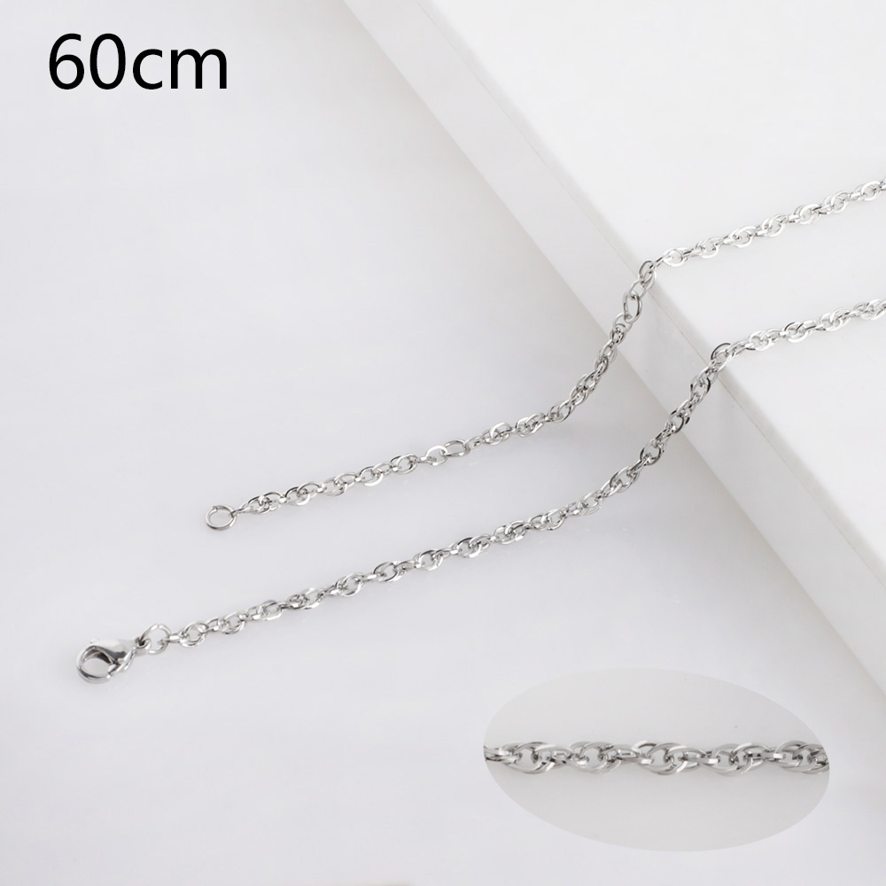Partnerbeads Women Necklace Chain Stainless Steel Fashion Rope Chains Punk Wholesale Jewelry 60cm Adjustable Fit Pendant Jewelry