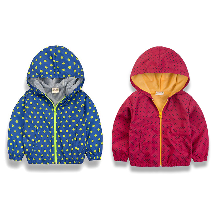 New Children Hooded Jacket Coat Kids Toddler Boys Girls Jackets Upper Clothes Dot Jacket  With Hood Jackets For Boys Coats