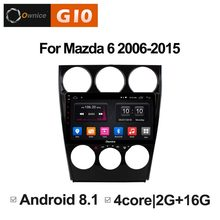 1024*600 Android 8.1 Quad 4 Core 2 GB RAM + 16 GB ROM lecteur DVD de voiture pour Mazda 6 Mazd6 2006-2015 GPS Navi Radio stéréo BT 4G WIFI(China)