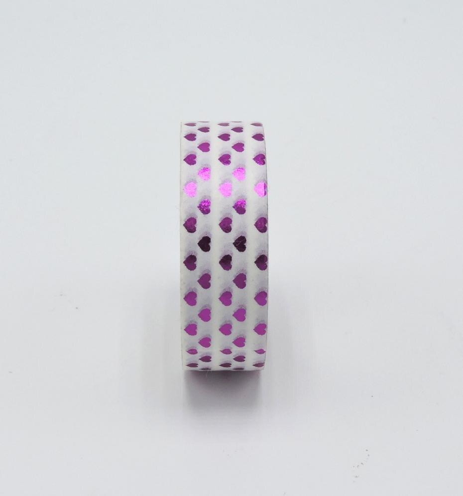 Purple Heart Foil Washi Tape Scrapbooking Tools Cute Decorative   Japanese Stationery Washi Tapes Mask