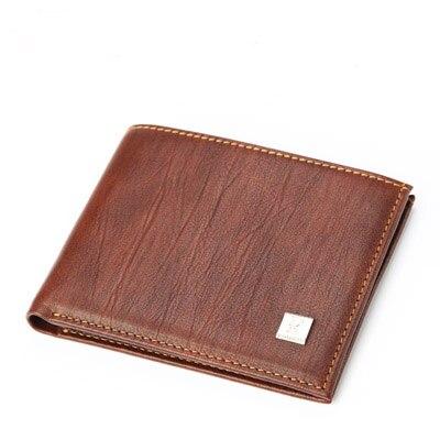 2018 простой новый Дизайн Элитный бренд Винтаж коричневый Цвет мужские кошельки кошелек из натуральной кожи сумка Бесплатная доставка