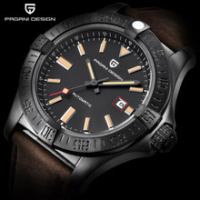 PAGANI DESIGN Top Brand New Men's Classic Mechanical Watches Waterproof 30M Genuine Leather Luxury Large dial Automatic Watch(China)