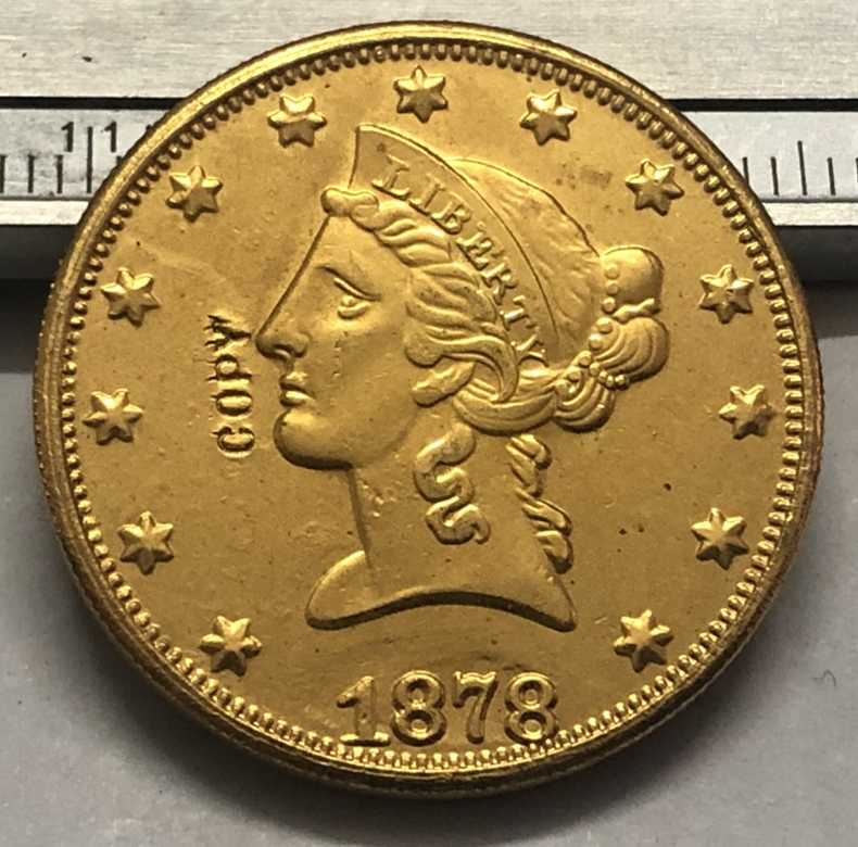 1878 Amerika Birleşik Devletleri Liberty Kafa (üzerinde Slogan Ters) $10 altın Kopya Para (herhangi bir tek nane P & S & O Seçin)