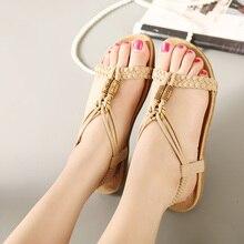 Summer sandals for women Slip On flat Shoes sandals flip flops women beaded flat sandals for ladies beach sandals women стоимость