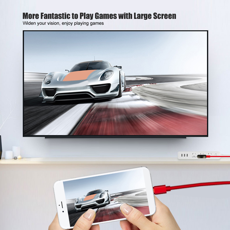 Cable HDMI Converter for Lightning to HDMI Cable Adaptor HDTV Digital AV Adapter for iPad Pro iPhone X 8 7 6S 5 to HDMI Cable in HDMI Cables from Consumer Electronics