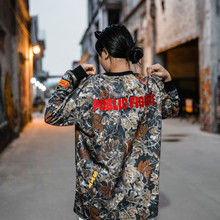 цена на Heron Preston Camouflage Green T-shirts Multicolor Text Print Long Sleeves Heron Preston T-shirt Embroidered Logo Patch Men Tee