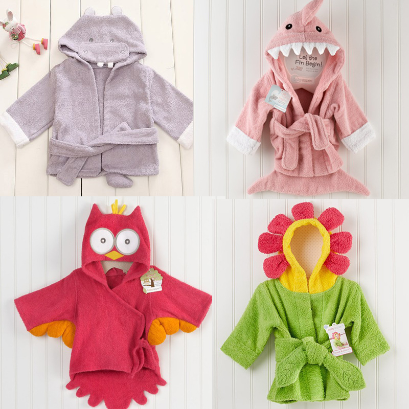 childrens-clothing-boys-girls-Robes-new-winter-spring-autumn-cartoon-baby-bathrobe-Sleepwear-Robe-winter-Pink-rabbit-bear-1