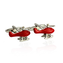 New Novel Plane Image Cufflinks High Quality Trendy Aircraft Design Men's Shirts Cuff Links 1 Double Free Delivery Cuff Button dy new high end cufflinks luxury design silver fashion men s shirts cuff button round trendy purple crystal cufflinks whlesale