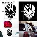 1 unid SEEYULE Ghost Rider cráneo loco del coche emblema cubierta del tanque de combustible vinilo Decal escarabajo para VW Tiguan Golf 4 5 6 Passat B5 B6