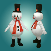 High quality new Christmas snowman mascot costume Christmas party performance mascots lovely walking cartoon Apparel Fancy dress