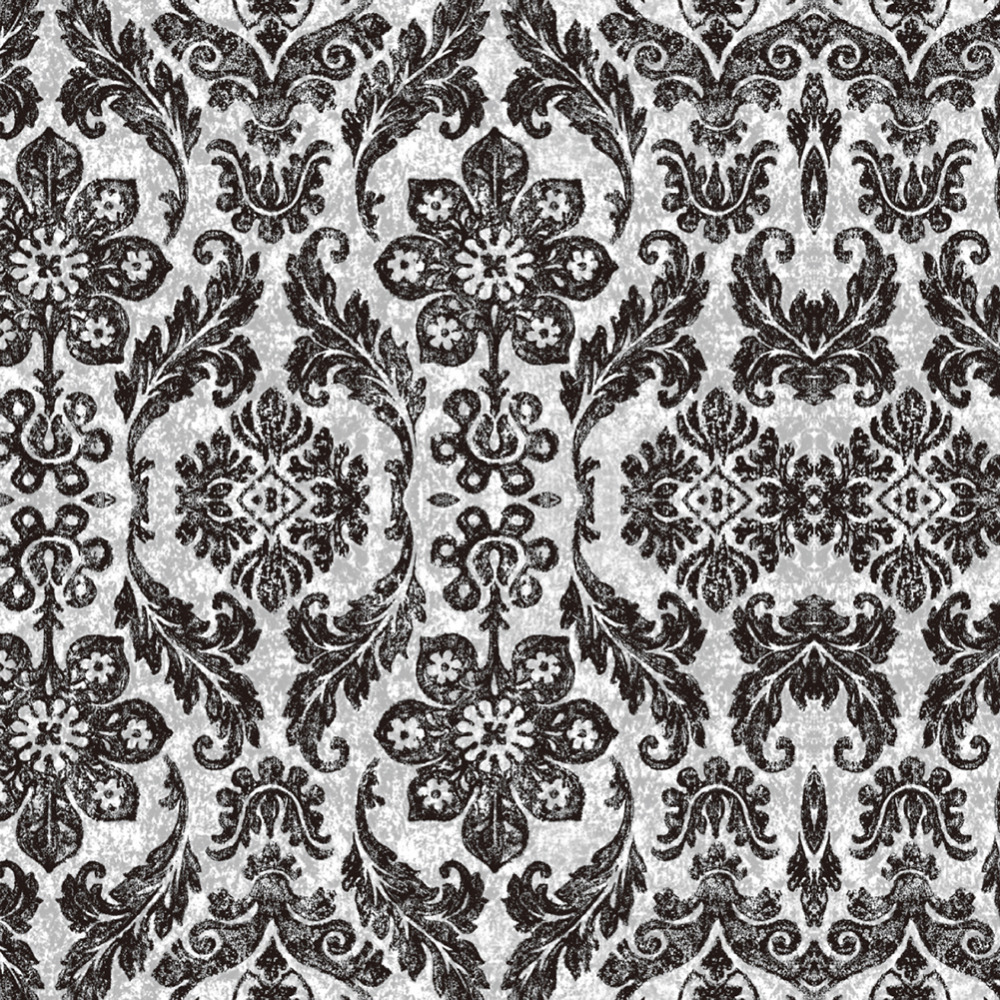 HaokHome Vintage Floral Damask Peel And Stick Wallpaper Diamond Black Mushroom Self Adhesive Living Room Bedroom Home Decor In Wallpapers From