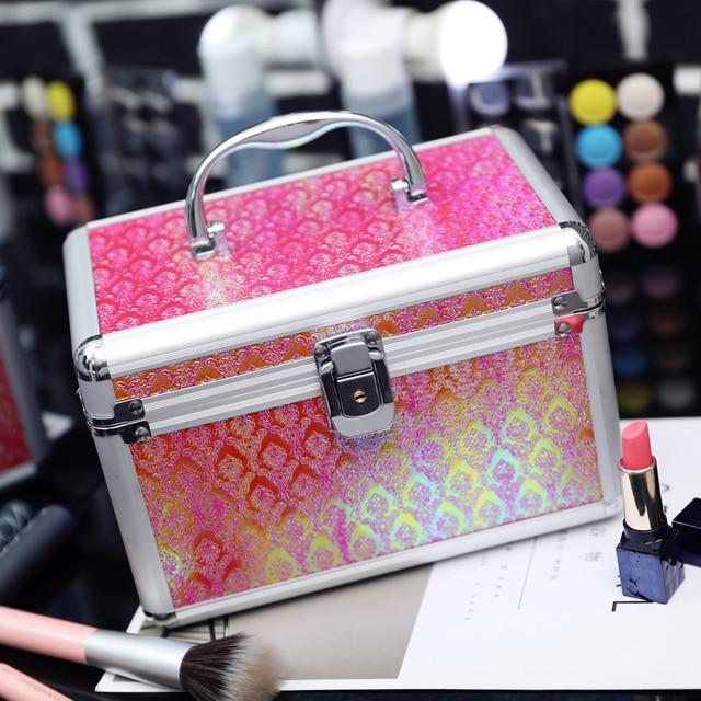 85ac893af8cb US $32.6  1PCS Makeup Kit Case Professional Make Up Box Cosmetic Bags Metal  Cosmetic Case Waterproof Makeup Tools Organizer Storage Box-in Storage ...