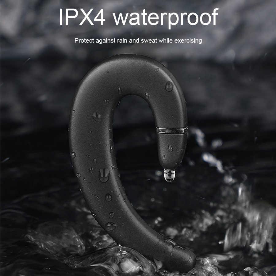 CBAOOO słuchawki bezprzewodowe Bluetooth słuchawki zestaw głośnomówiący słuchawkowy zaczep na ucho wodoodporna redukcja hałasu z mikrofonem dla iPhone iPhone